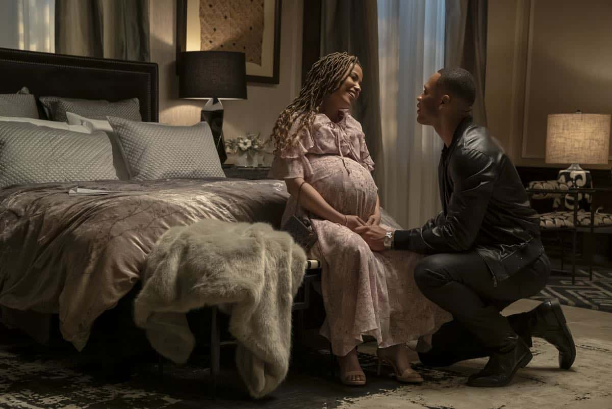 """EMPIRE: L-R: Meta Golding and Trai Byers in the """"What Is Love"""" season premiere episode of EMPIRE airing Tuesday, Sept. 24 (9:00-10:00 PM ET/PT) on FOX. ©2019 Fox Broadcasting Co. All Rights Reserved. CR: Chuck Hodes/FOX."""