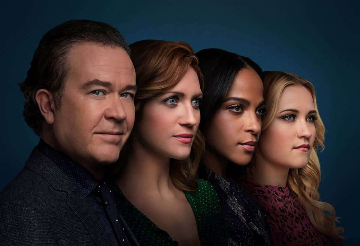 ALMOST FAMILY: L-R: Timothy Hutton as Dr. Leon Bechley, Brittany Snow as Julia Bechley, Megalyn Echikunwoke as Edie Palmer and Emily Osment as Roxy Doyle in Season 1 of ALMOST FAMILY premiering Wednesday, October 2 (9:00-10:00pm PM ET/PT) on FOX. ©2019 Fox Broadcasting Co. All Rights Reserved. CR: Elisabeth Caren/FOX.