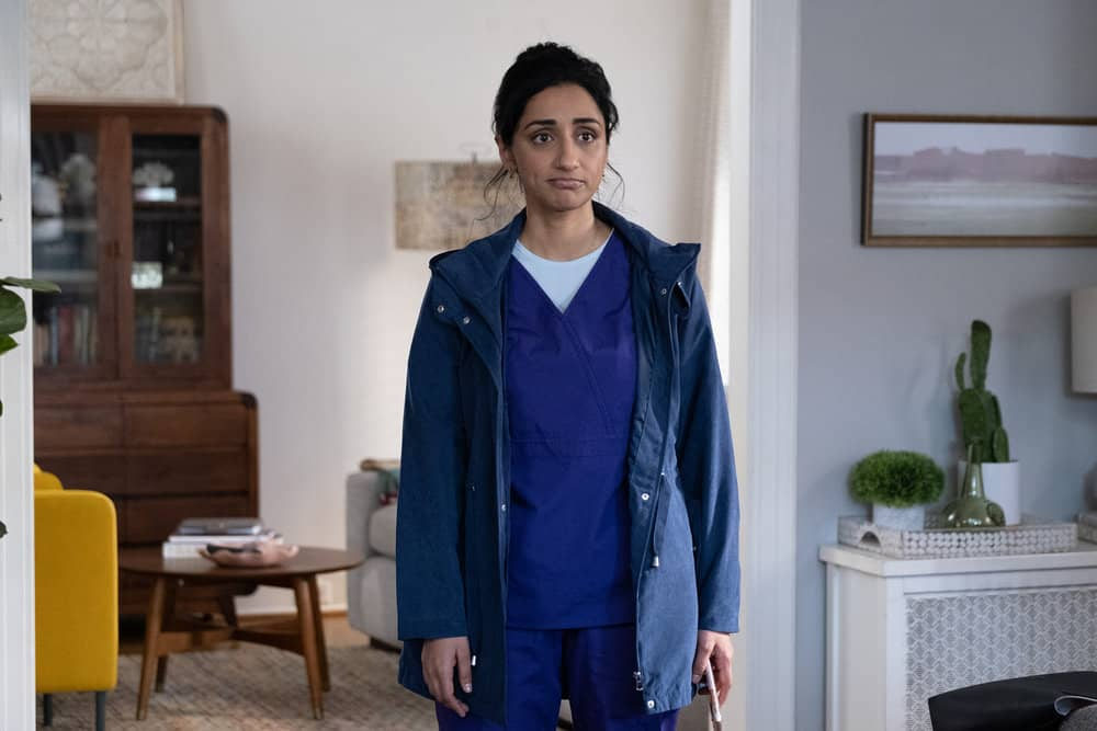 "SUNNYSIDE -- ""Pilot"" Episode -- Pictured: Kiran Deol as Mallory Modi -- (Photo by: Colleen Hayes/NBC)"