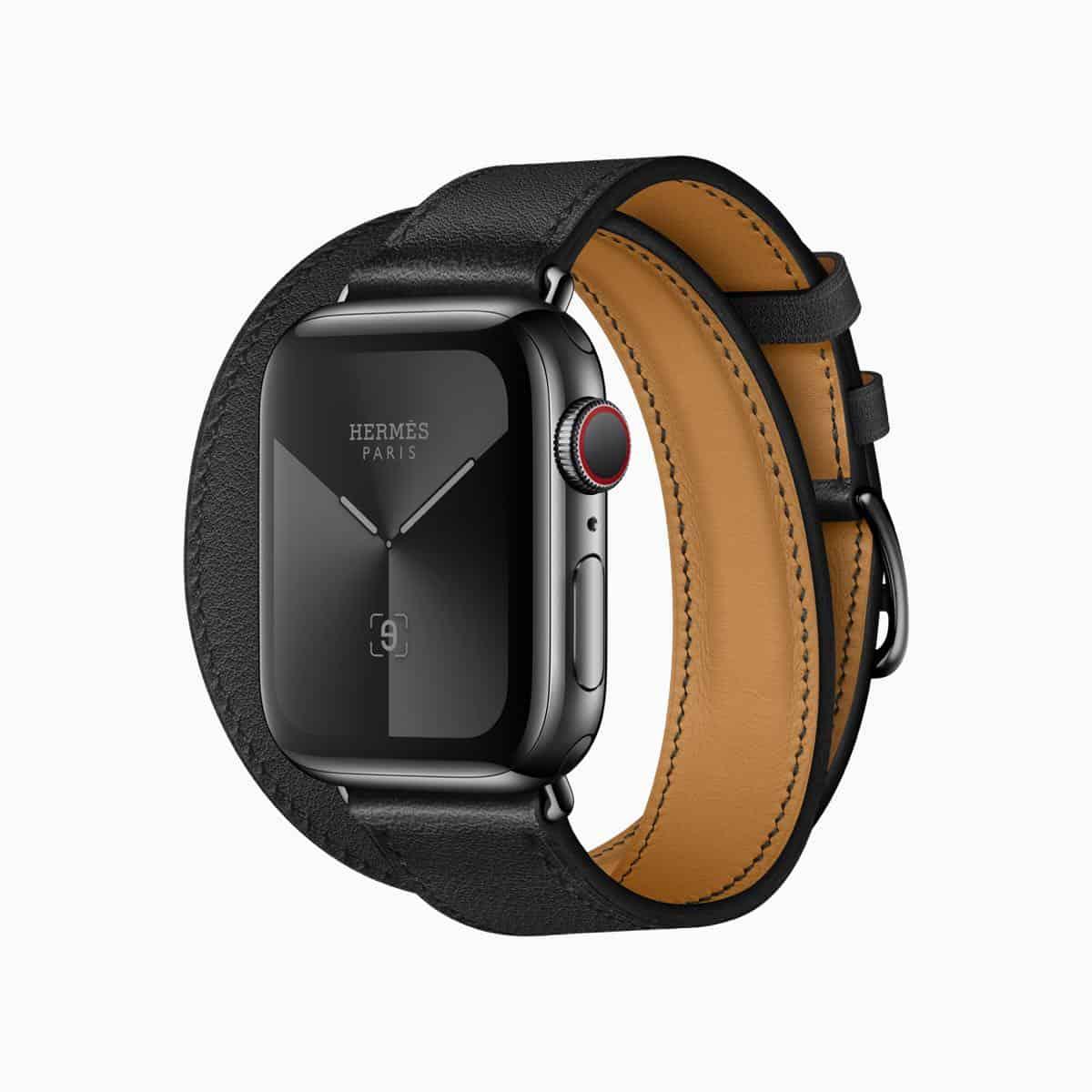 Apple watch series 5 hermes double tour noir band 091019