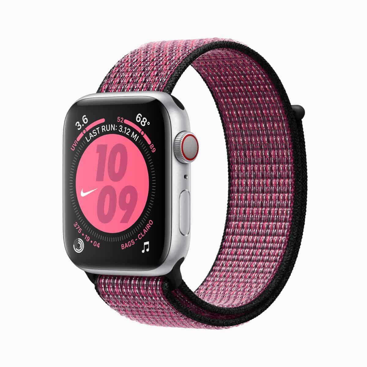 Apple watch series 5 nike sports band pink blast 091019
