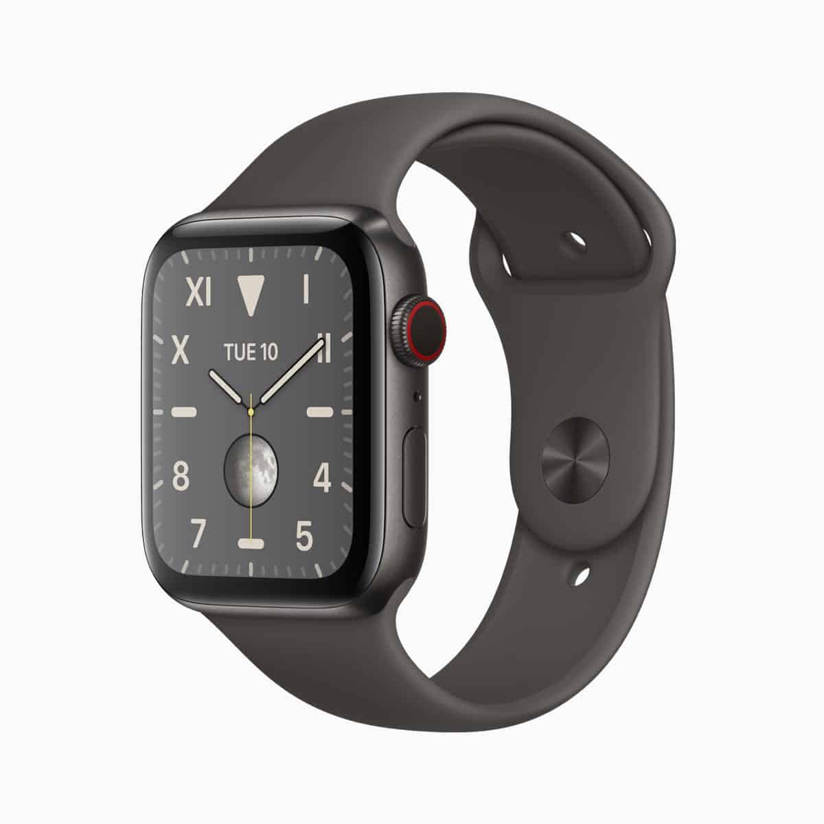 Apple watch series 5 space black titanium case viper dark 091019