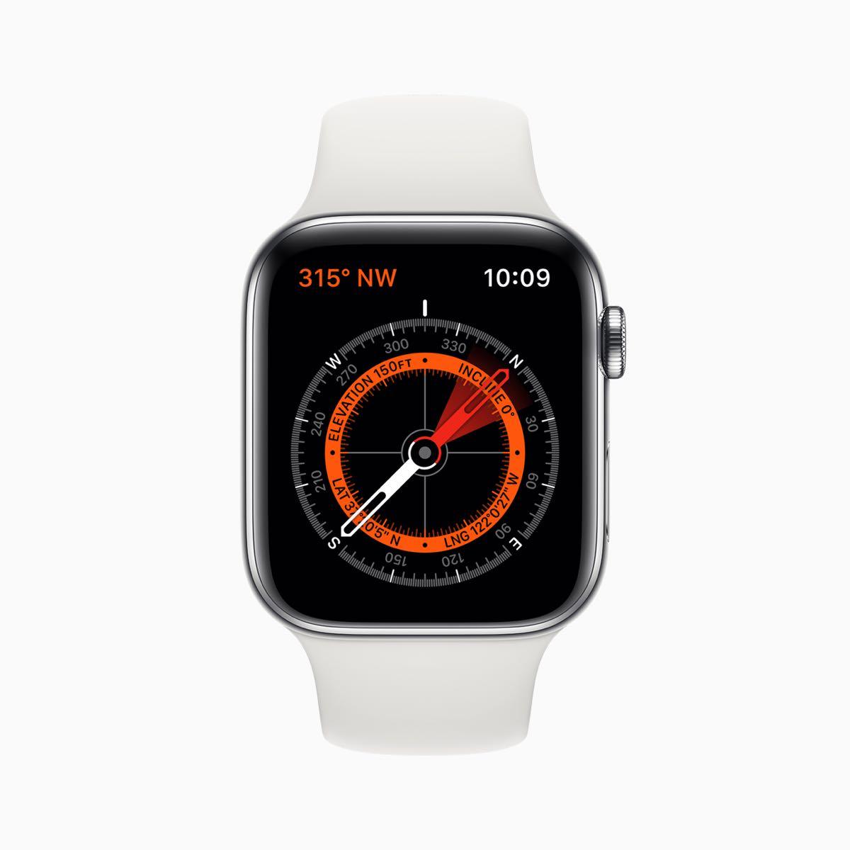 Apple watch series 5 compass screen 091019