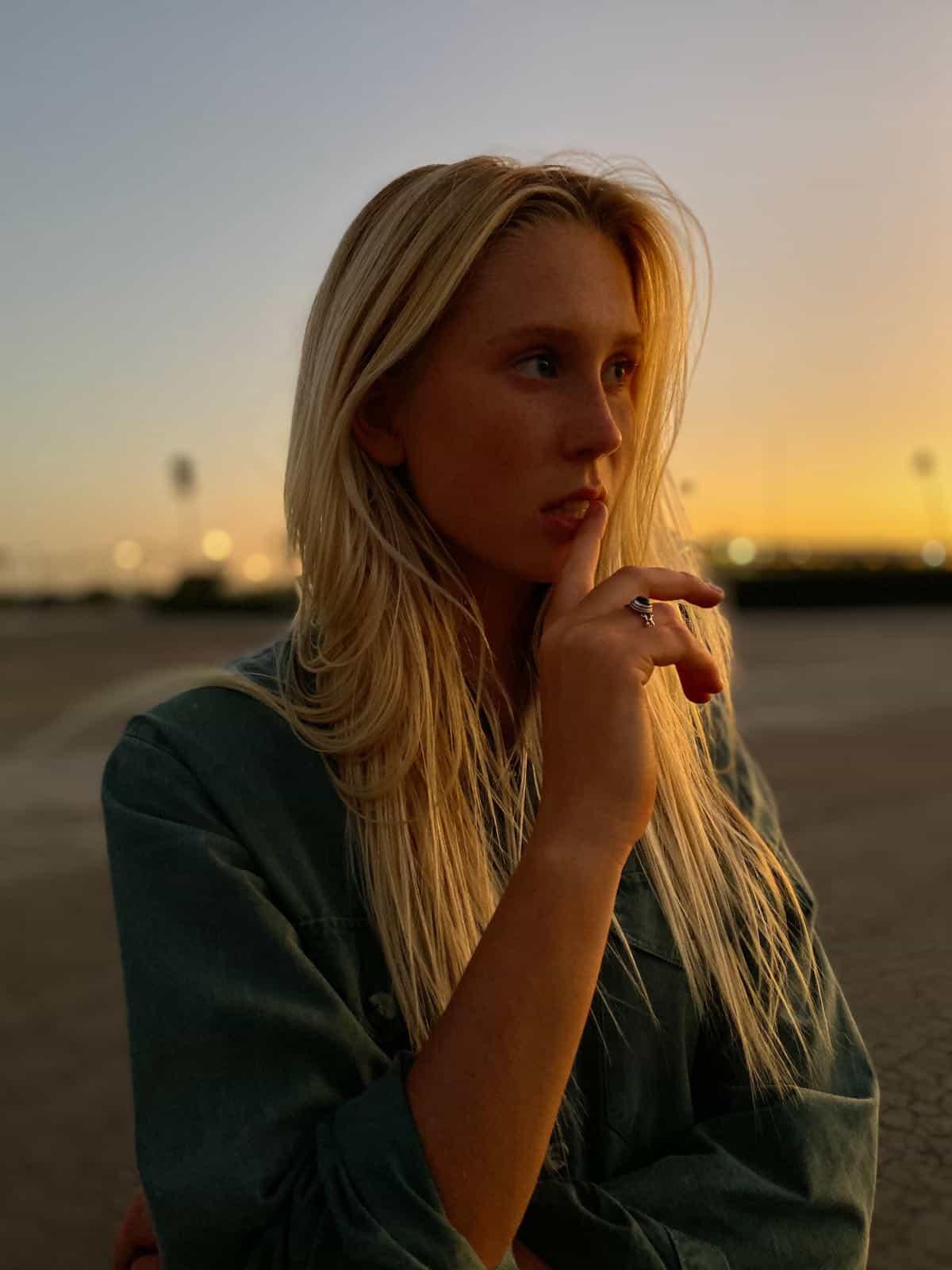 Apple iPhone 11 Pro Portrait Woman Sunset 091019