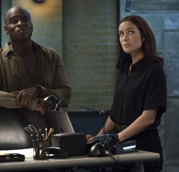 "THE BLACKLIST -- ""Louis T. Steinhil (#27)"" Episode 701 -- Pictured: (l-r) Hisham Tawfiq as Dembe Zuma, Megan Boone as Elizabeth Keen -- (Photo by: Virginia Sherwood/NBC)"
