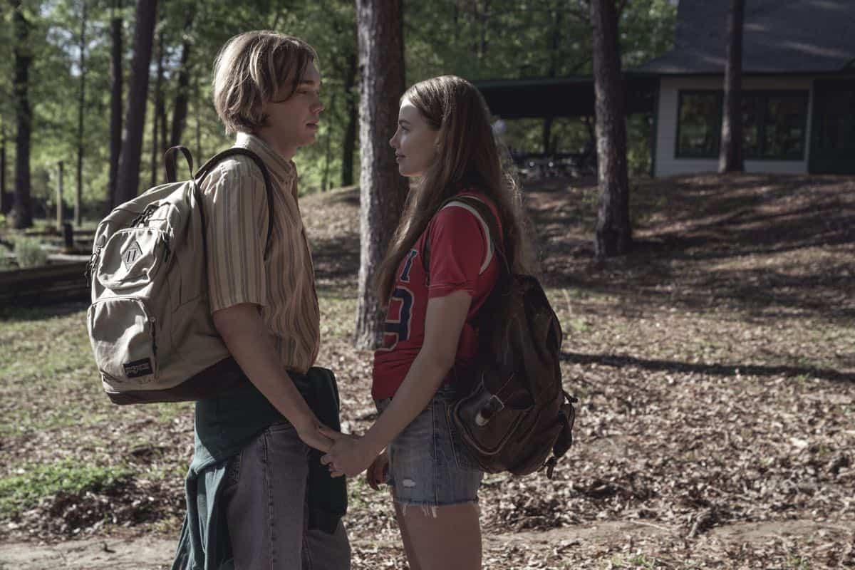 Looking For Alaska is an 8-episode limited series based on the John Green novel of the same name. It centers around teenager Miles ÒPudgeÓ Halter (Charlie Plummer), as he enrolls in boarding school to try to gain a deeper perspective on life. He falls in love with Alaska Young (Kristine Froseth), and finds a group of loyal friends. But after an unexpected tragedy, Miles and his close friends attempt to make sense of what theyÕve been through.Alaska Young. Miles (Charlie Plummer) and Alaska (Kristine Froseth), shown. (Photo by: Alfonso Bresciani)