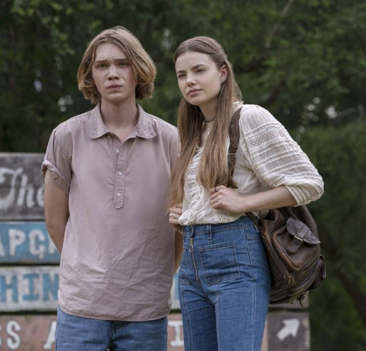Looking For Alaska is an 8-episode limited series based on the John Green novel of the same name. It centers around teenager Miles ÒPudgeÓ Halter (Charlie Plummer), as he enrolls in boarding school to try to gain a deeper perspective on life. He falls in love with Alaska Young (Kristine Froseth), and finds a group of loyal friends. But after an unexpected tragedy, Miles and his close friends attempt to make sense of what theyÕve been through. Alaska Young. Miles (Charlie Plummer) and Alaska (Kristine Froseth), shown. (Photo by: Alfonso Bresciani)
