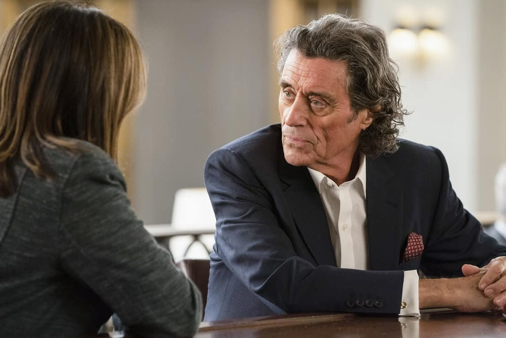 "LAW & ORDER: SPECIAL VICTIMS UNIT -- ""I'm Going to Make You a Star"" Episode 21001 -- Pictured: Ian McShane as Sir Tobias ""Toby"" Moore -- (Photo by: Virginia Sherwood/NBC)"