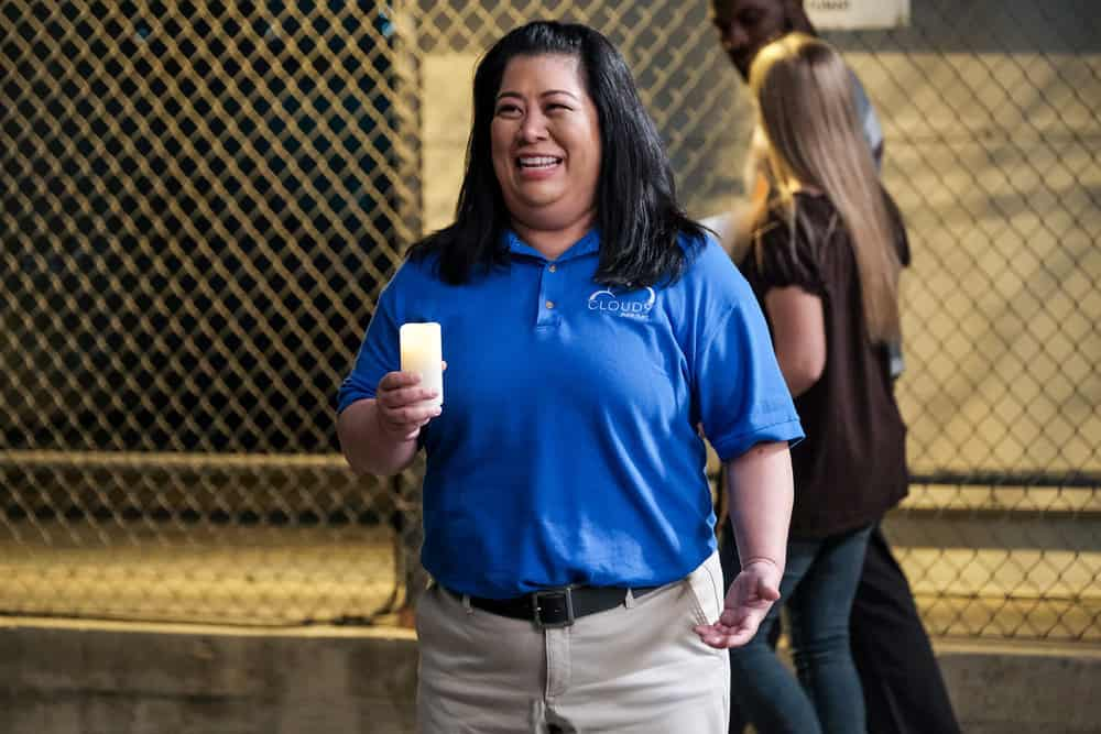 "SUPERSTORE -- ""Cloud 9.0"" Episode 501 -- Pictured: Kaliko Kauahi as Sandra -- (Photo by: Eddy Chen/NBC)"