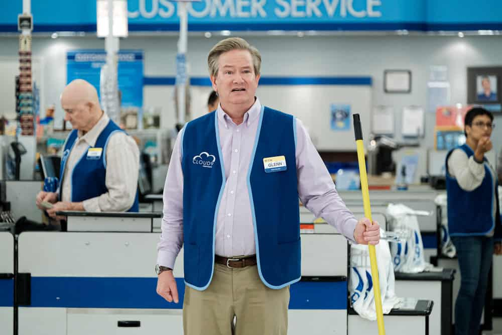"SUPERSTORE -- ""Cloud 9.0"" Episode 501 -- Pictured: Mark McKinney as Glenn -- (Photo by: Eddy Chen/NBC)"