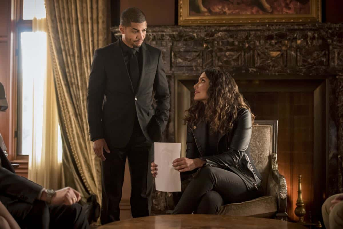 "Arrow -- ""Starling City"" -- Image Number: AR801a_0197b.jpg -- Pictured (L-R): Rick Gonzalez as Rene Ramirez/Wild Dog and Juliana Harkavy as Dinah Drake/Black Canary -- Photo: Dean Buscher/The CW -- © 2019 The CW Network, LLC. All Rights Reserved."