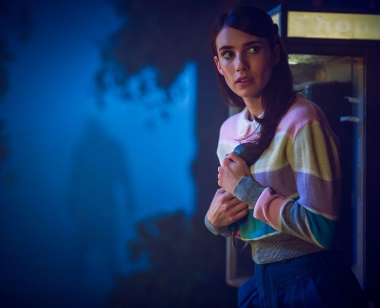 AMERICAN HORROR STORY: 1984 -- Pictured: Emma Roberts as Brooke Thompson. CR: Kurt Iswarienko FX
