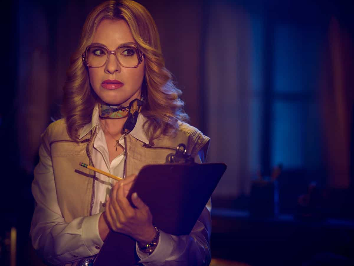 AMERICAN HORROR STORY: 1984 -- Pictured: Leslie Grossman as Margaret Booth. CR: Kurt Iswarienko FX
