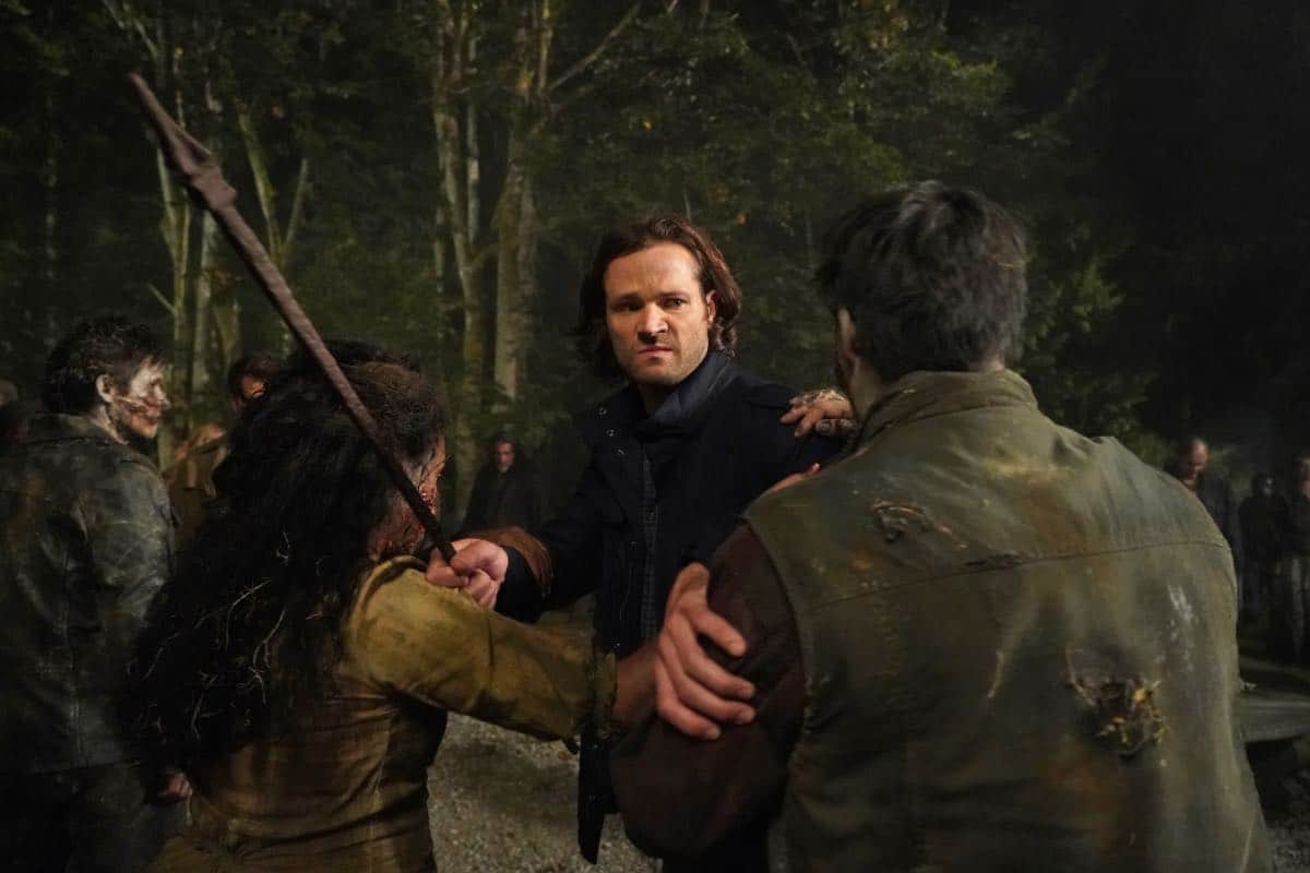"""Supernatural -- """"Back and to the Future"""" -- Image Number: SN1502b_0200r.jpg -- Pictured: Jared Padalecki as Sam -- Photo: Shane Harvey/The CW -- © 2019 The CW Network, LLC. All Rights Reserved."""
