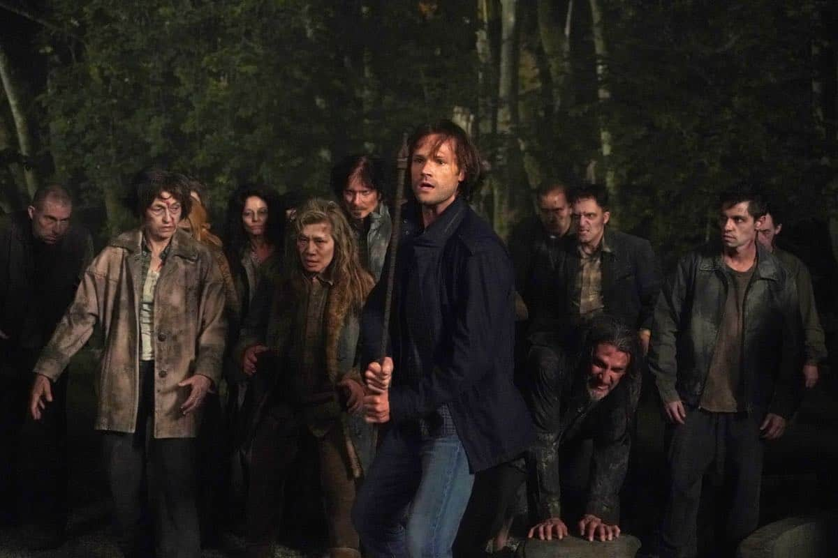 """Supernatural -- """"Back and to the Future"""" -- Image Number: SN1502b_0231r.jpg -- Pictured: Jared Padalecki as Sam -- Photo: Shane Harvey/The CW -- © 2019 The CW Network, LLC. All Rights Reserved."""