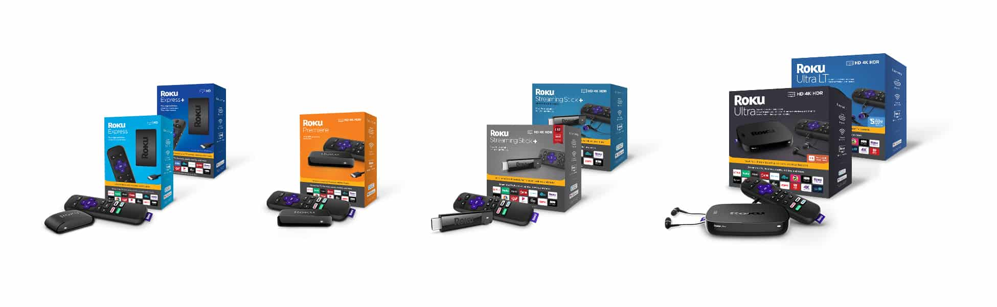 Roku Player Line Up with Product
