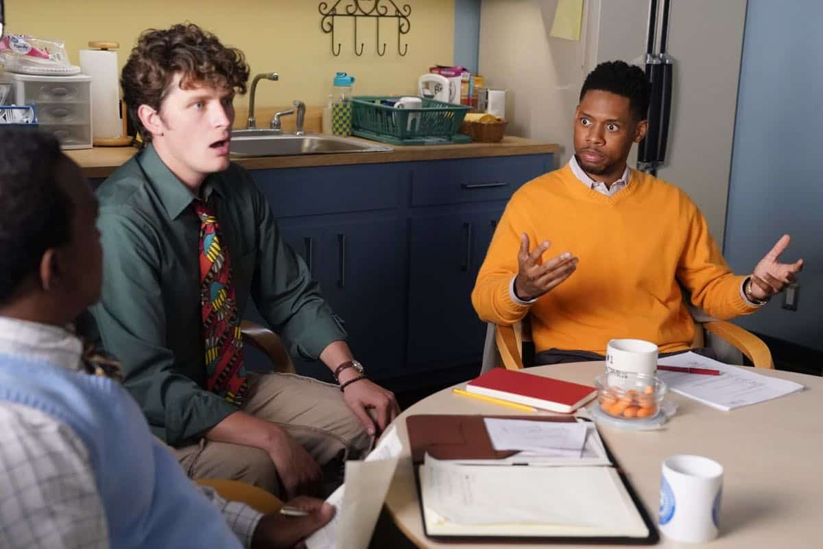"SCHOOLED - ""Dangerous Minds"" - The summer is over. On her first day back, Lainey is excited to be back at William Penn Academy, but Mellor warns her that being a pal to her students is not a good idea. Meanwhile, Principal Glascott introduces the newest science teacher to the faculty, but CB is skeptical of her no-nonsense approach, on the second season premiere of ""Schooled,"" WEDNESDAY, SEPT. 25 (8:30-9:00 p.m. EDT), on ABC. (ABC/Mitch Haaseth)"