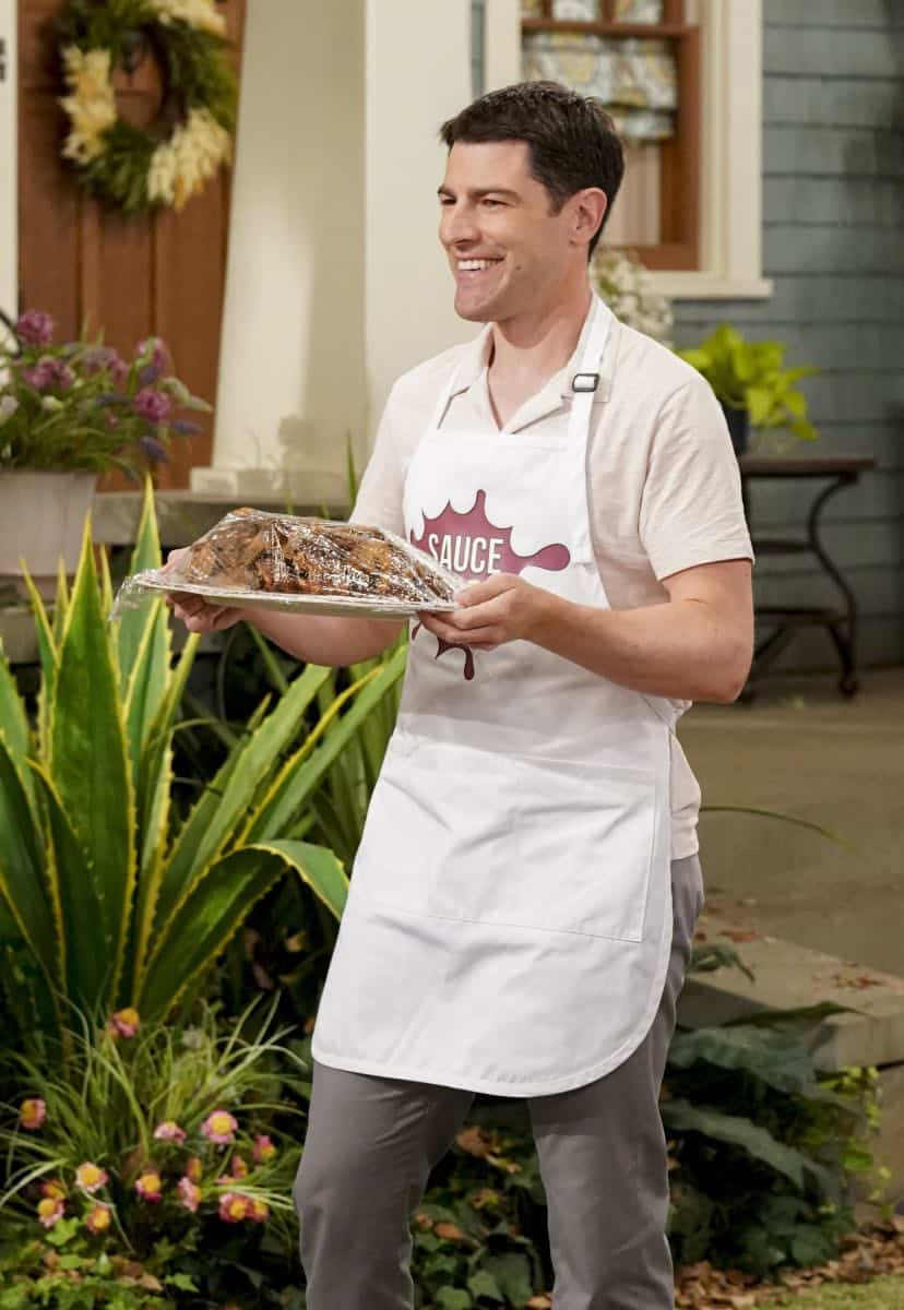 """Welcome to the Re-Rack"" - Pictured: Max Greenfield (Dave Johnson). One year after the Johnsons moved next door to the Butlers, Dave is eager to take on a bigger role in Calvin's annual Yardecue and prove how much a part of the community he's become. But Calvin's reaction makes it clear that, while the relationship between the two families has grown, the friendship between Calvin and Dave still has a way to go, on the second season premiere of THE NEIGHBORHOOD, Monday, Sept. 23 (8:00-8:30 PM, ET/PT) on the CBS Television Network. Photo: Monty Brinton/CBS ©2019 CBS Broadcasting, Inc. All Rights Reserved."
