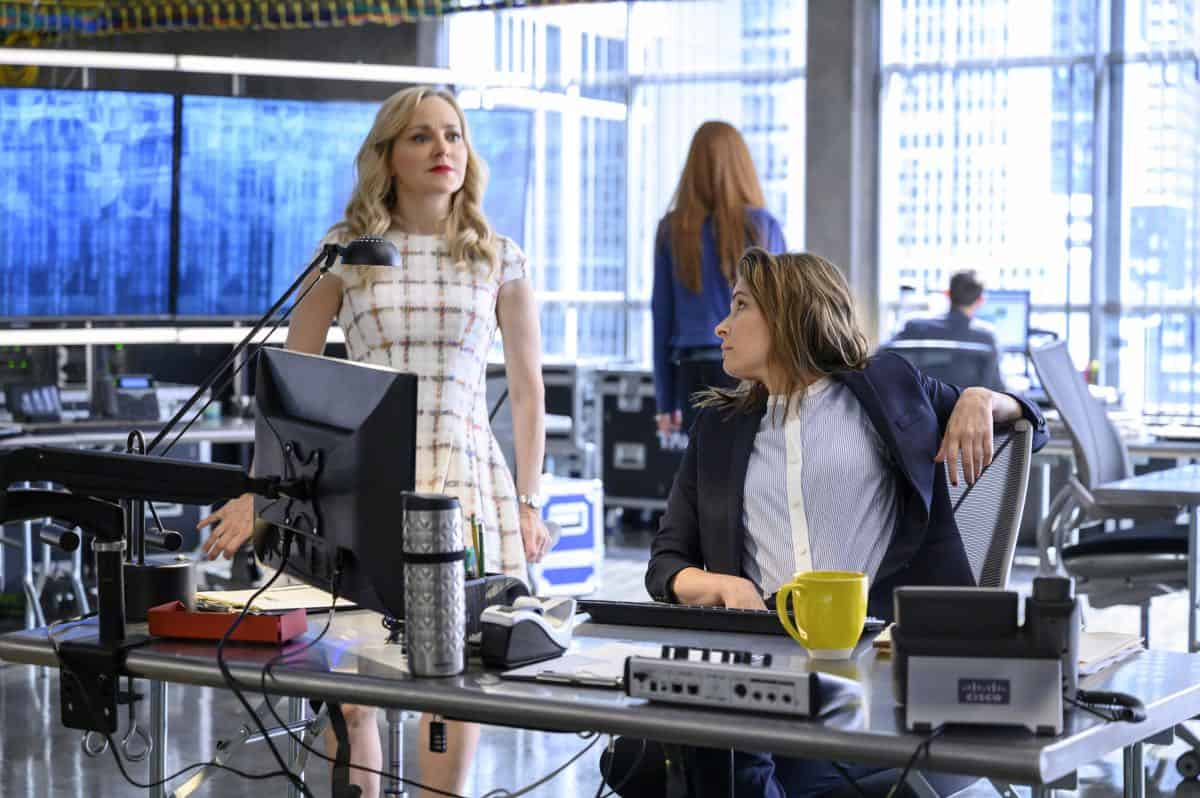 """Fantastica Voyage"" - Bull sees a visionary whereas the federal government sees a con woman when he helps the defense of a charismatic entrepreneur, Whitney Holland (Liz Alderfer), who's accused of defrauding investors in her seemingly groundbreaking water filtration system company. As the trial gets underway, Bull focuses on selecting jurors whose belief systems allow them to see his client as a dreamer who never meant criminal intent, on BULL, Monday, Sept. 30 (10:00-11:00 PM, ET/PT) on the CBS Television Network. Michael Weatherly directed the episode. Pictured L-R: Geneva Carr as Marissa Morgan and Mackenzie Meehan as Taylor Rentzel Photo: David Giesbrecht/CBS ©2019 CBS Broadcasting, Inc. All Rights Reserved"