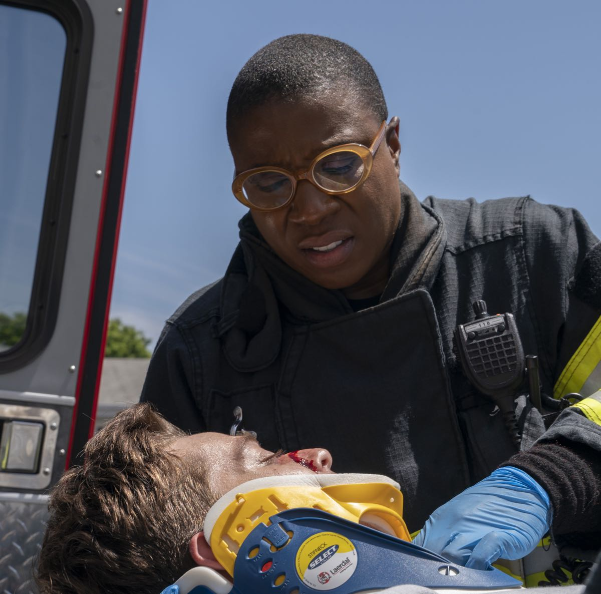 "9-1-1: Aisha Hinds in the ""Kids Today"" season premiere episode of 9-1-1 airing Monday, Sep. 23 (8:00-9:00 PM ET/PT) on FOX. © 2019 FOX MEDIA LLC. CR: Jack Zeman / FOX."
