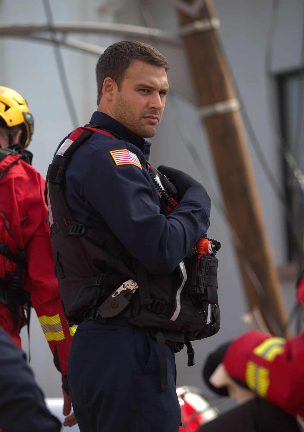 "9-1-1: Ryan Guzman in the ""Sink Or Swim"" episode of 9-1-1 airing Monday, Sept. 30 (8:00-9:00 PM ET/PT) on FOX. © 2019 FOX MEDIA LLC. CR: Victor Ceballos / FOX."