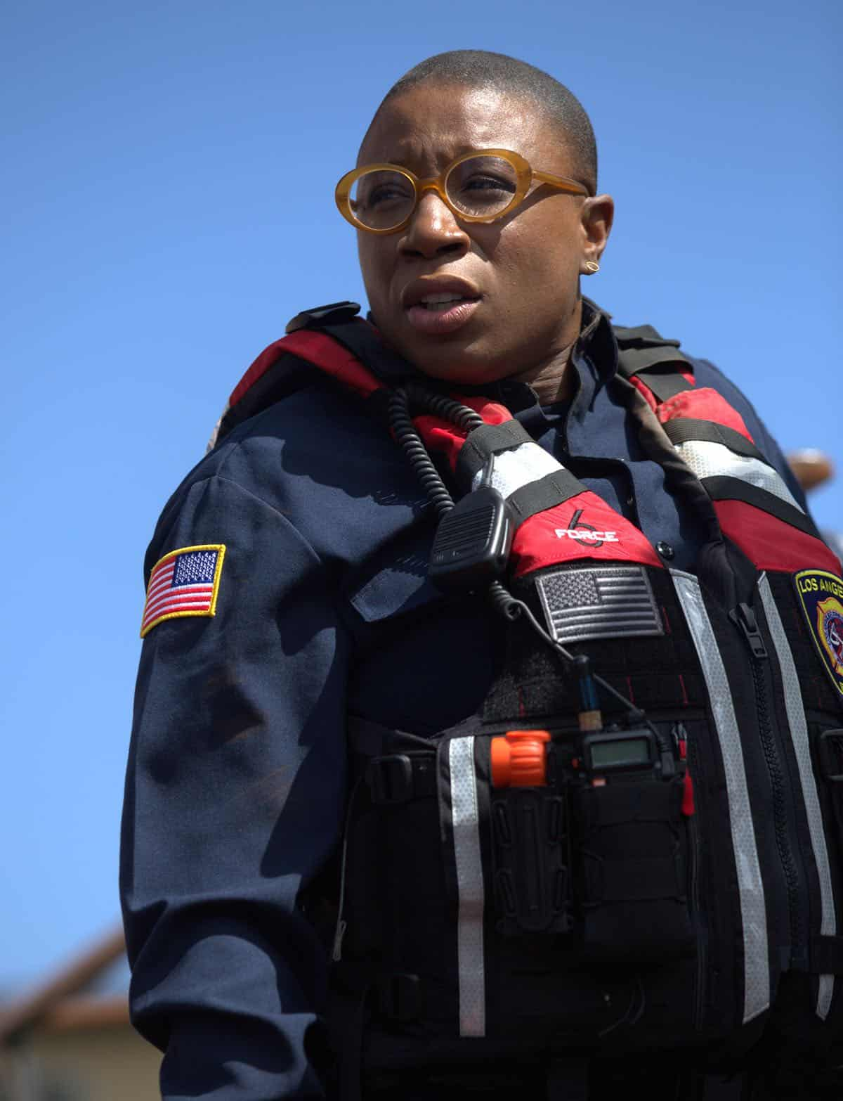 "9-1-1: Aisha Hinds in the ""Sink Or Swim"" episode of 9-1-1 airing Monday, Sept. 30 (8:00-9:00 PM ET/PT) on FOX. © 2019 FOX MEDIA LLC. CR: Victor Ceballos / FOX."