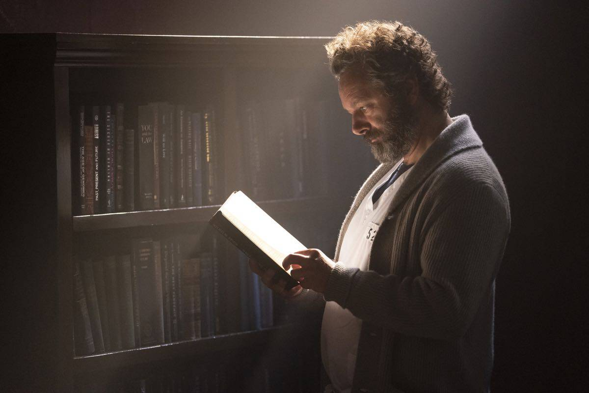 "PRODIGAL SON:  Michael Sheen in the ""Annihilator"" episode of PRODIGAL SON airing Monday, Sept. 30  (9:00-10:00 PM ET/PT) on FOX. © 2019 FOX MEDIA LLC. Cr: Peter Kramer/ FOX."