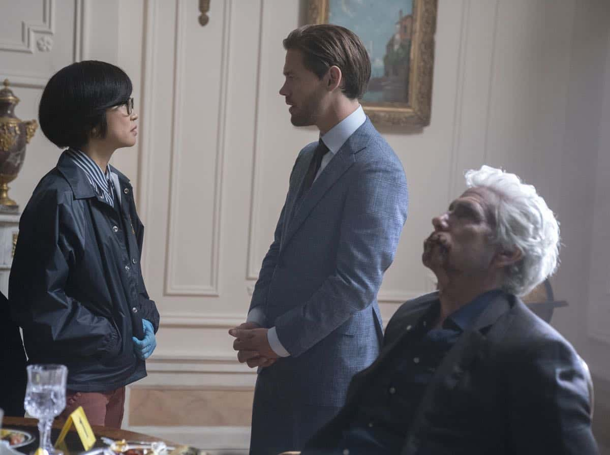 "PRODIGAL SON:  L-R:  Keiko Agena and Tom Payne in the ""Annihilator"" episode of PRODIGAL SON airing Monday, Sept. 30  (9:00-10:00 PM ET/PT) on FOX. © 2019 FOX MEDIA LLC. Cr: Peter Kramer/ FOX."