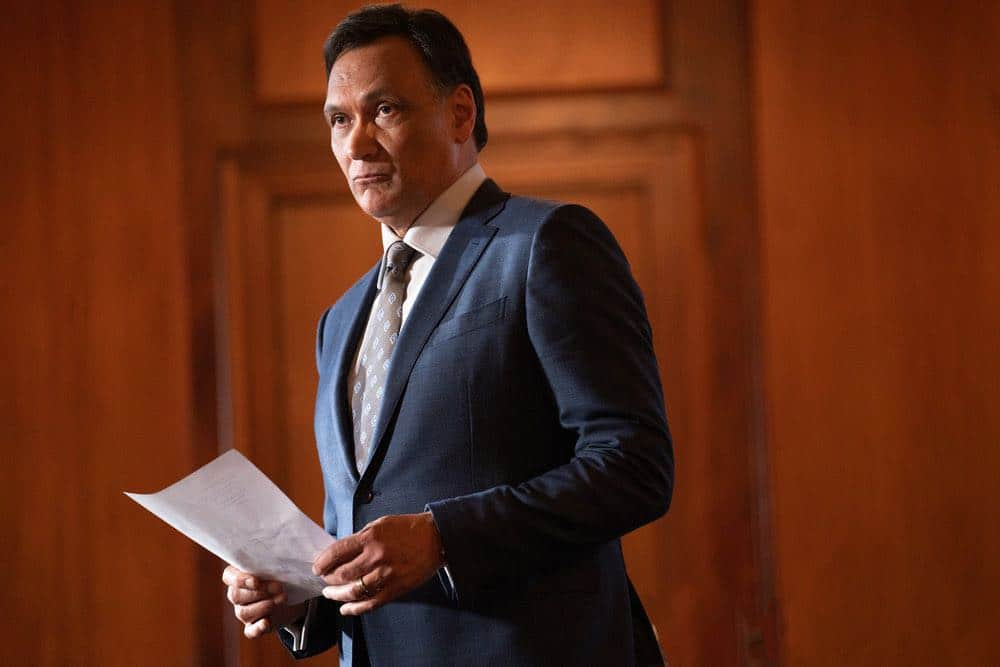 "BLUFF CITY LAW -- ""You Don't Need A Weatherman"" Episode 102 -- Pictured: Jimmy Smits as Elijah Strait -- (Photo by: Connie Chornuk/NBC)"
