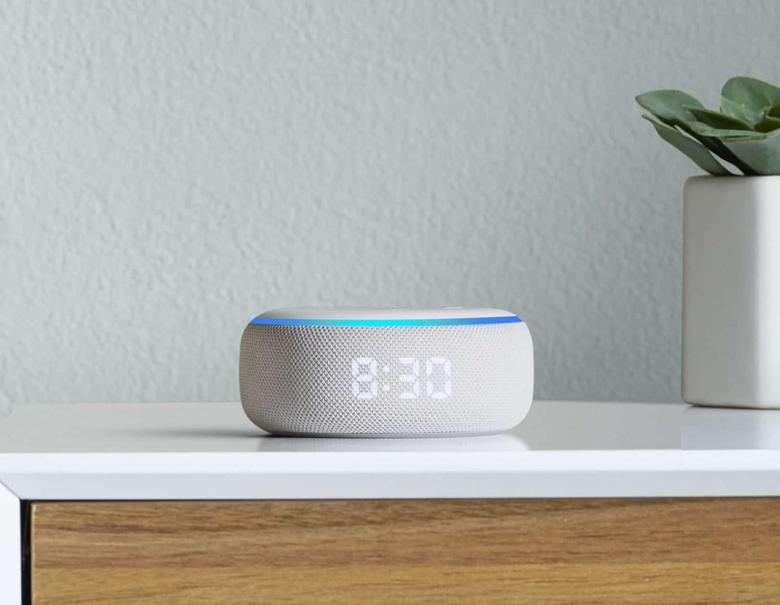Amazon New Echo With Clock