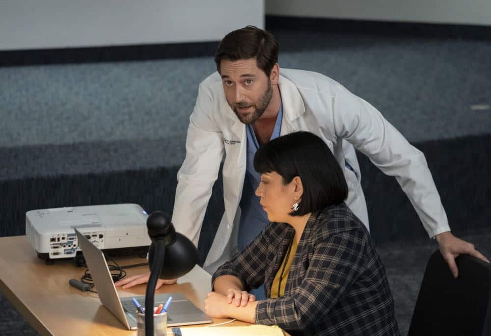 "NEW AMSTERDAM -- ""The Big Picture"" Episode 202 -- Pictured: Ryan Eggold as Dr. Max Goodwin -- (Photo by: Virginia Sherwood/NBC)"