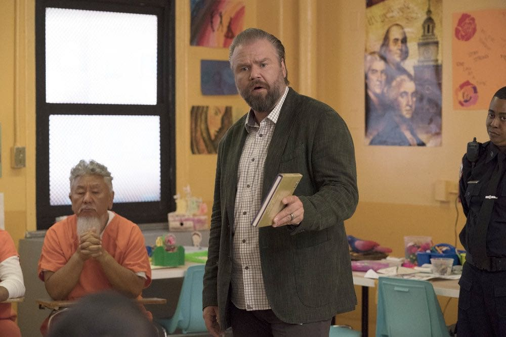"NEW AMSTERDAM -- ""The Big Picture"" Episode 202 -- Pictured: Tyler Labine as Dr. Iggy Frome -- (Photo by: Virginia Sherwood/NBC)"