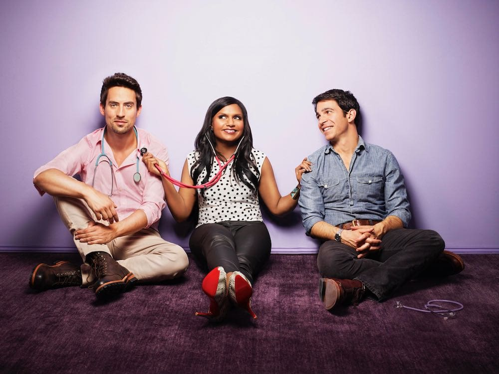 SEASON 1 CAST PORTRAIT ED WEEKS MINDY KALING AND CHRIS MESSINA THE MINDY PROJECT 38453488 1950 1461