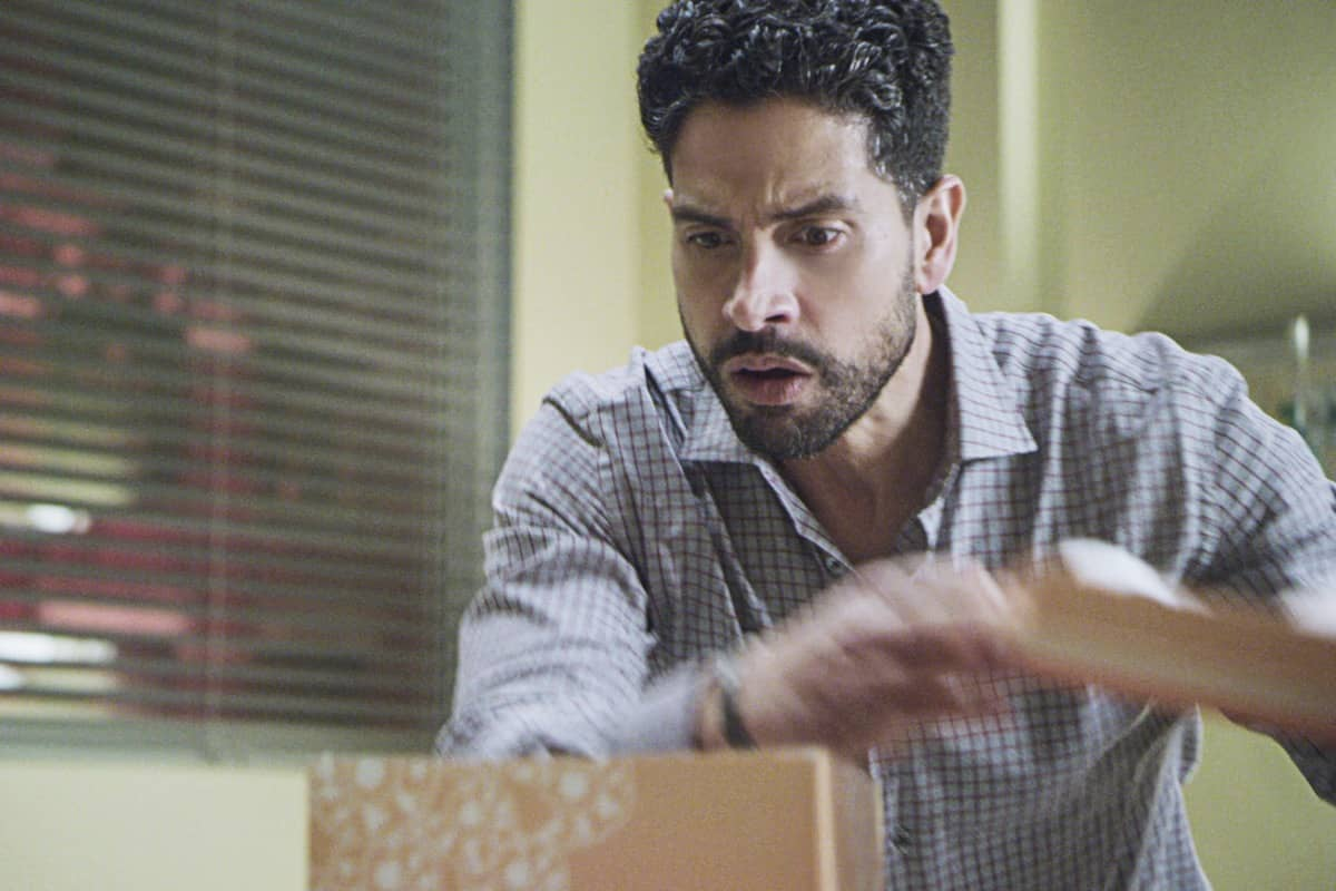 """Spectator Slowing"" -- The BAU team investigates a series of seemingly random fatal explosions throughout Kentucky and Tennessee, on CRIMINAL MINDS, Wednesday, Jan. 15 (9:00-10:00 PM, ET/PT) on the CBS Television Network.  Pictured: Adam Rodriguez as Luke Alvez  Photo: Screen Grab/CBS ©2019 CBS Broadcasting Inc. All Rights Reserved."