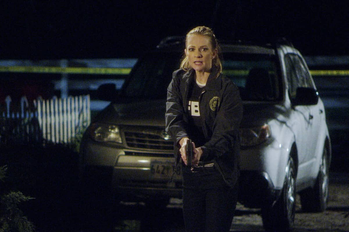 """""""Spectator Slowing"""" -- The BAU team investigates a series of seemingly random fatal explosions throughout Kentucky and Tennessee, on CRIMINAL MINDS, Wednesday, Jan. 15 (9:00-10:00 PM, ET/PT) on the CBS Television Network. Pictured: A.J. Cook as Jennifer """"JJ"""" Jareau Photo: Screen Grab/CBS ©2019 CBS Broadcasting Inc. All Rights Reserved."""