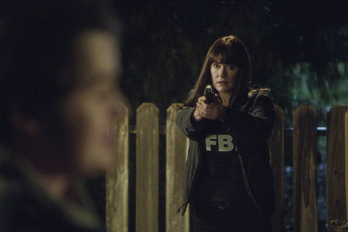 """""""Spectator Slowing"""" -- The BAU team investigates a series of seemingly random fatal explosions throughout Kentucky and Tennessee, on CRIMINAL MINDS, Wednesday, Jan. 15 (9:00-10:00 PM, ET/PT) on the CBS Television Network. Pictured: Paget Brewster as Emily Prentiss Photo: Screen Grab/CBS ©2019 CBS Broadcasting Inc. All Rights Reserved."""