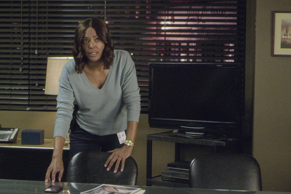 """""""Spectator Slowing"""" -- The BAU team investigates a series of seemingly random fatal explosions throughout Kentucky and Tennessee, on CRIMINAL MINDS, Wednesday, Jan. 15 (9:00-10:00 PM, ET/PT) on the CBS Television Network. Pictured: Aisha Tyler as Dr. Tara Lewis Photo: Screen Grab/CBS ©2019 CBS Broadcasting Inc. All Rights Reserved."""