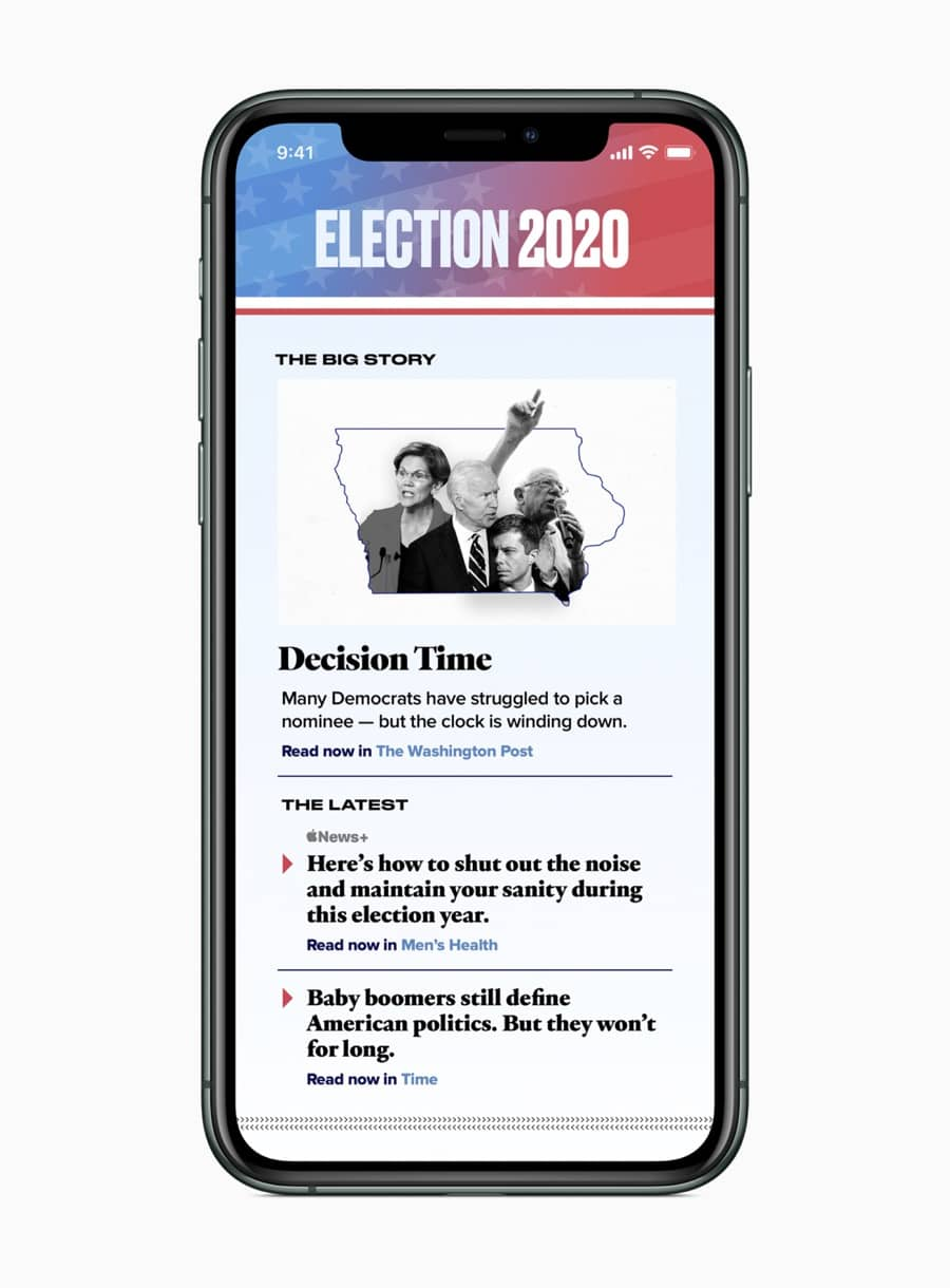 Apple news elections 2020 screen 02032020