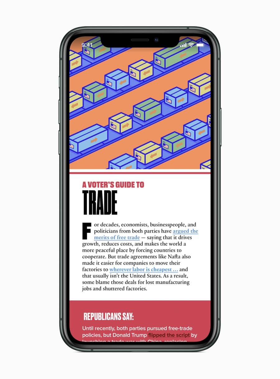 Apple news a voters guide to trade screen 02032020