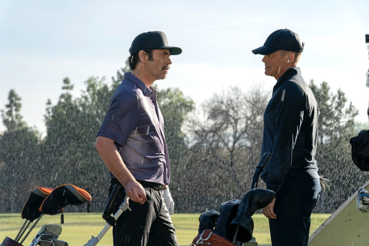 "9-1-1: LONE STAR: L-R: Guest star Billy Burke and Rob Lowe in the ""Bum Steer"" episode of 9-1-1: LONE STAR airing Monday, Feb. 24 (8:00-9:01 PM ET/PT) on FOX. ©2020 Fox Media LLC. CR: Jack Zeman/FOX."