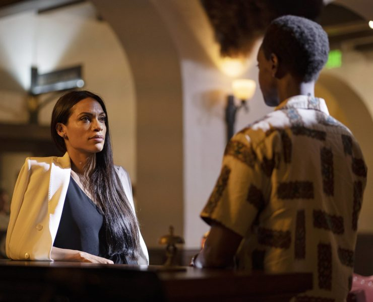 "BRIARPATCH -- ""Pilot"" Episode 101 -- Pictured: Rosario Dawson as Allegra -- (Photo by: Scott McDermott/USA Network)"
