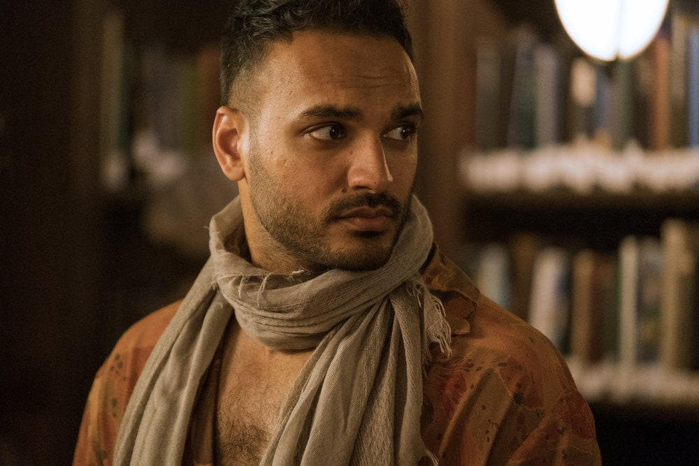 "THE MAGICIANS -- ""Cello Squirrel Daffodil"" Episode 509 -- Pictured: Arjun Gupta as Penny Adiyodi -- (Photo by: James Dittinger/SYFY) NUP_188466_0929.JPG Wednesday, March 4 on SYFY (10-11 p.m. ET)"