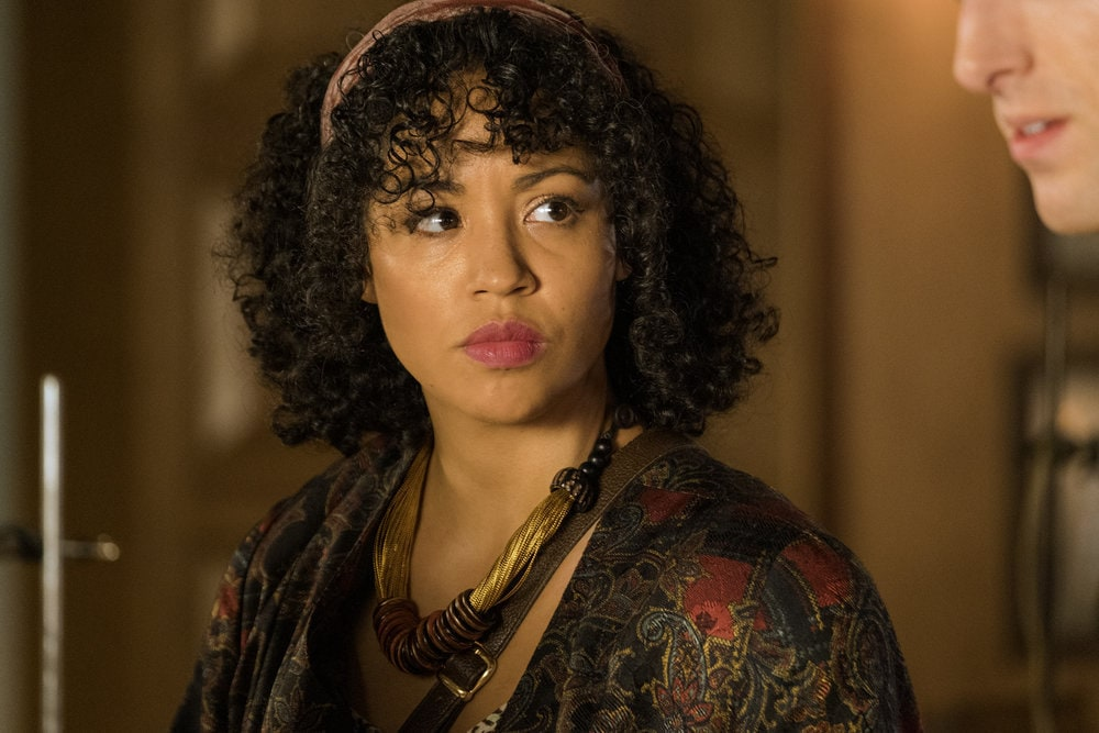 "THE MAGICIANS -- ""Cello Squirrel Daffodil"" Episode 509 -- Pictured: Riann Steele as Merritt -- (Photo by: James Dittinger/SYFY) NUP_188466_0692.JPG Wednesday, March 4 on SYFY (10-11 p.m. ET)"
