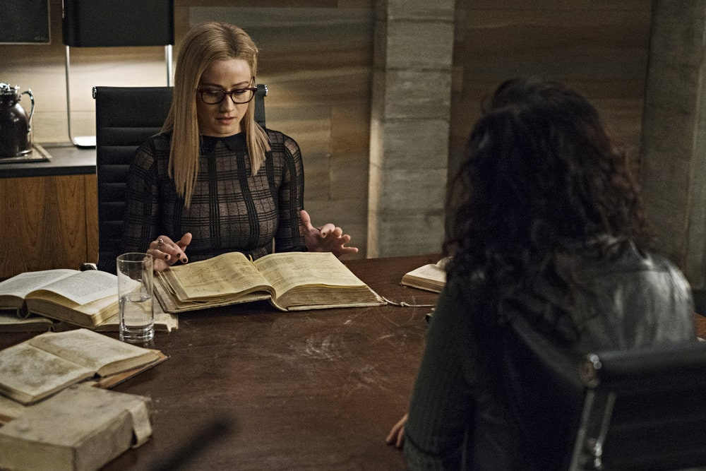 "THE MAGICIANS -- ""Cello Squirrel Daffodil"" Episode 509 -- Pictured: Olivia Taylor Dudley as Alice Quinn -- (Photo by: James Dittinger/SYFY)"