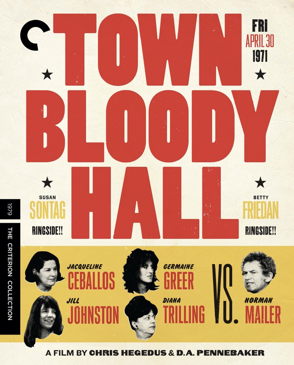 Town Bloody Hall Bluray Cover The Criterion Collection