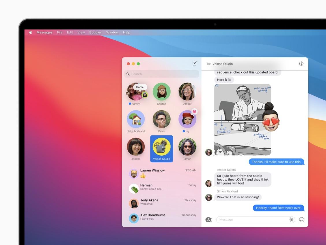 apple macos bigsur messages pnnedconversations 06222020