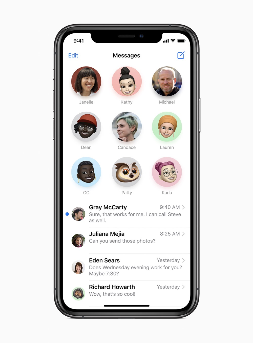 Apple ios14 pin conversations messages screen 06222020