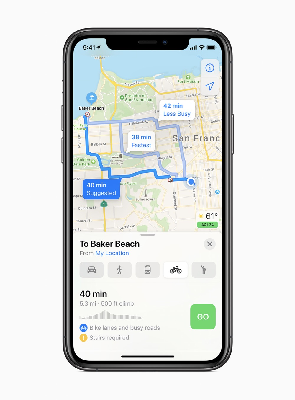 Apple ios14 maps screen 06222020