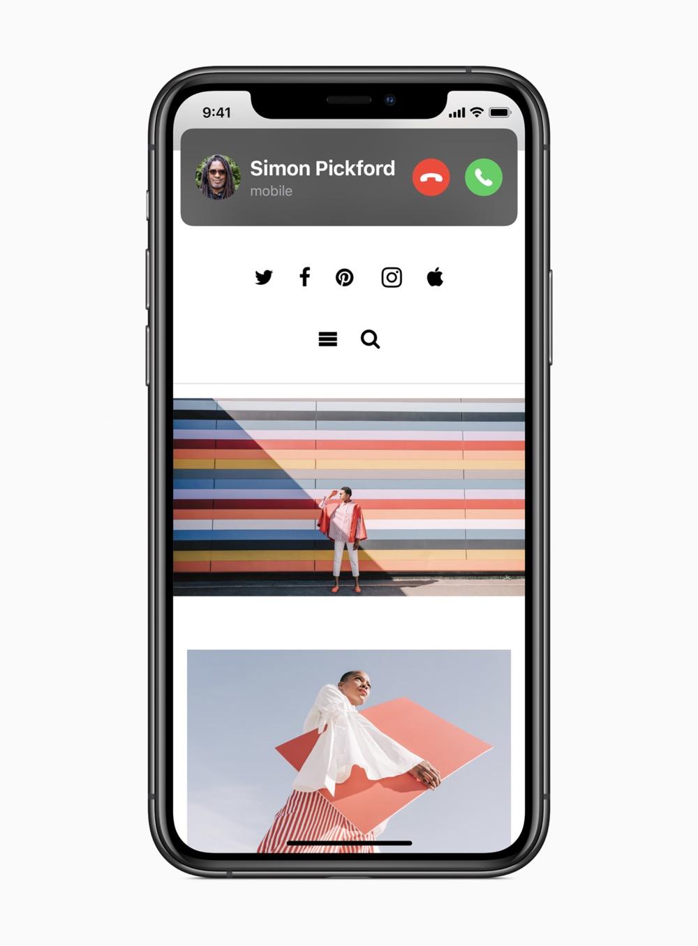 Apple ios14 incoming call screen 06222020