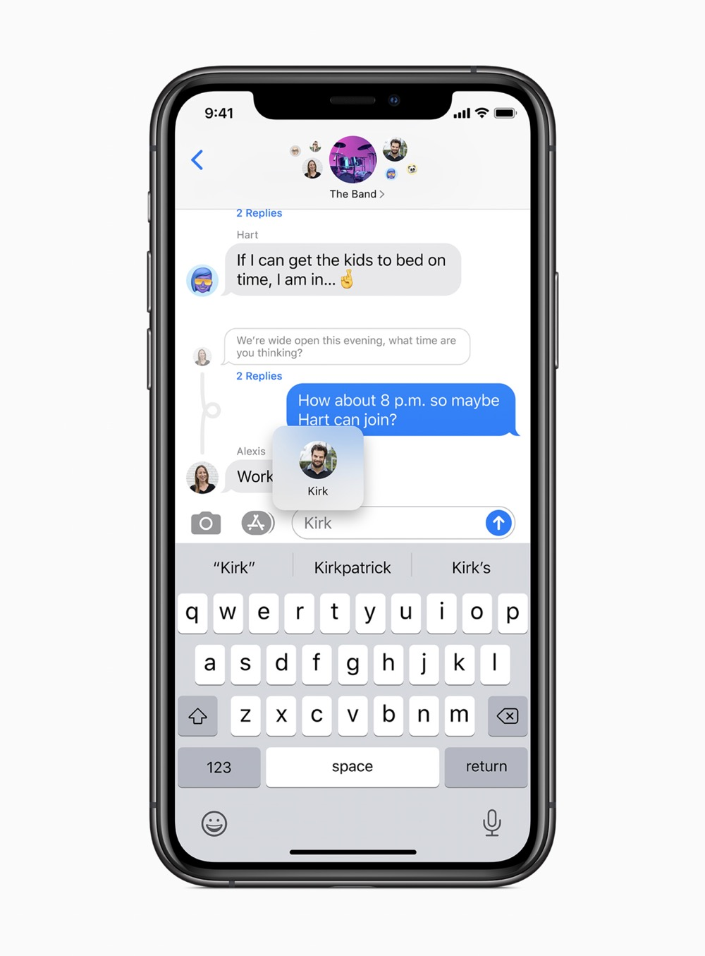 Apple ios14 group mentions messages screen 06222020